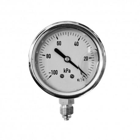 Ciśnieniomierze (manometry) na podciśnienie wypełnione gliceryną.